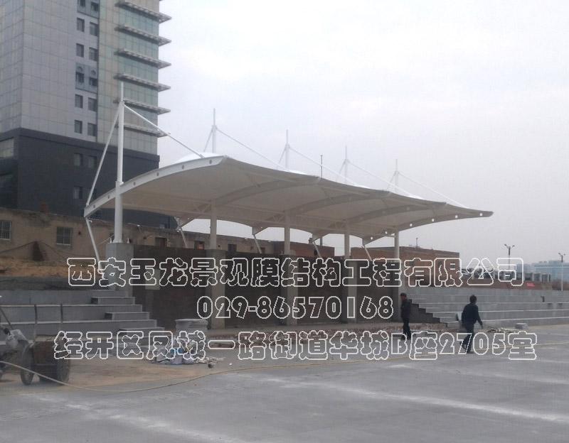 榆林18小学主席台膜结构工程