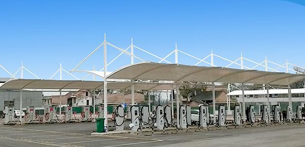关于陕西膜结构加油站有什么优点?为什么加油站顶棚优先选择膜结构?