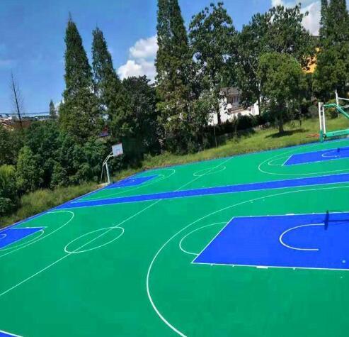 陕西塑胶篮球场厂家