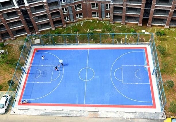 陕西塑胶篮球场
