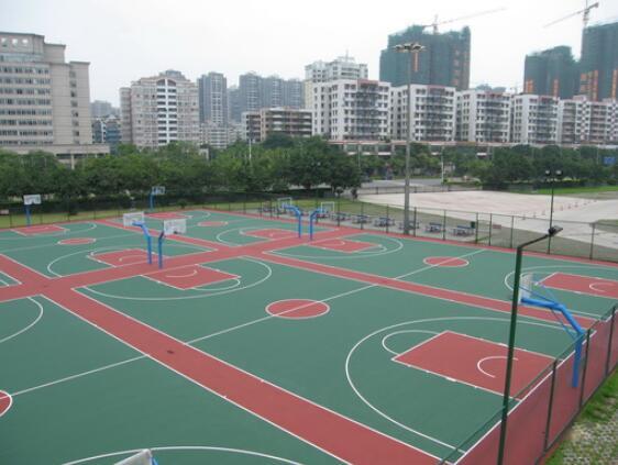 西安塑胶篮球场
