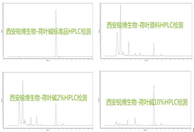 荷叶提取物 荷叶碱高效液相HPLC检测图谱