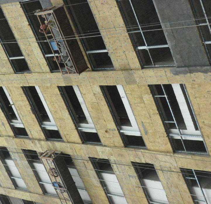 安置房外墙岩棉板案例