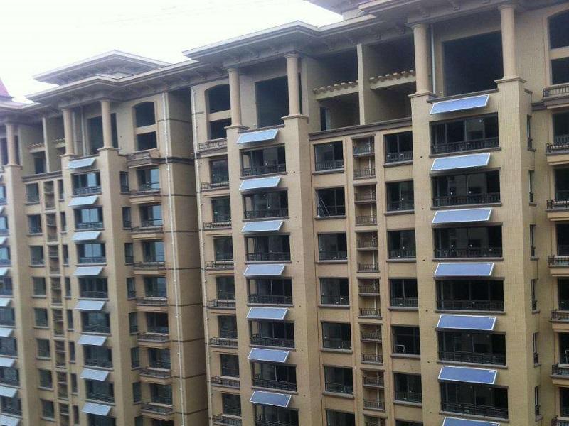 阳台壁挂太阳能热水工程