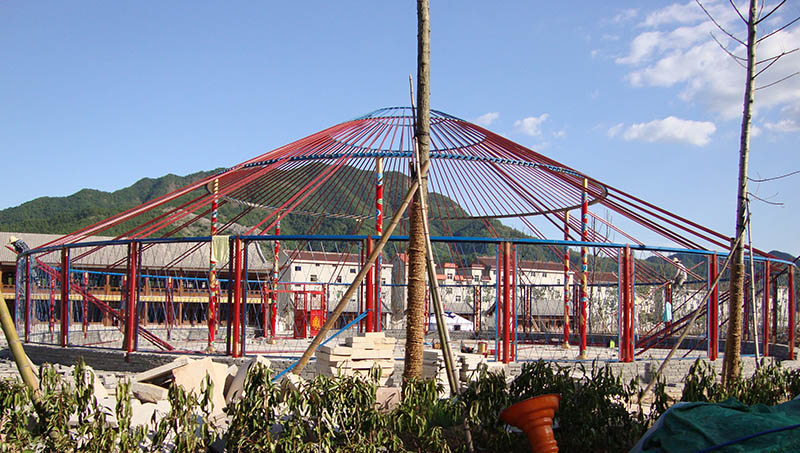 浙江杭州市25米蒙古包安装