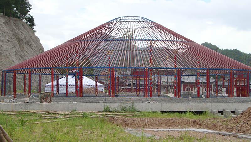 餐饮蒙古包厂家25M直径安装