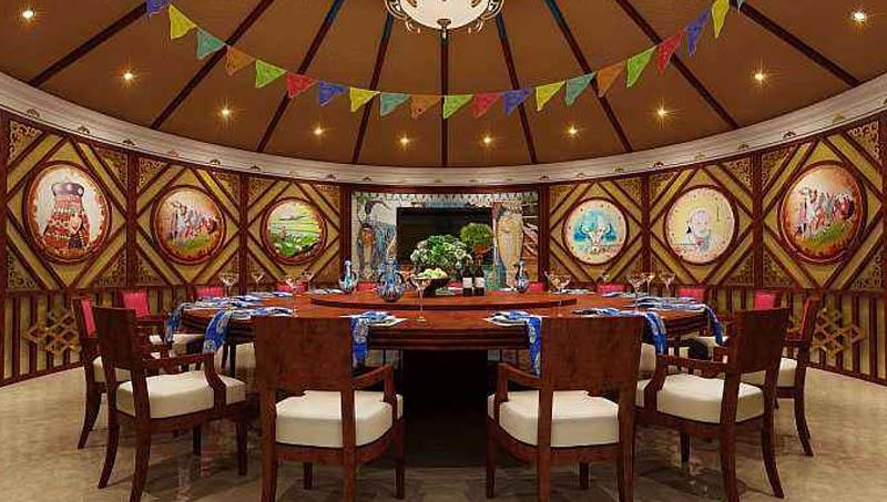广东传统餐饮蒙古包价格