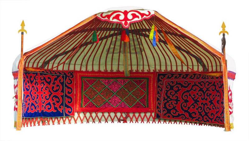 传统餐饮蒙古包效果图