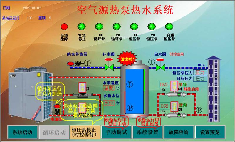 西安空气源热泵热水控制