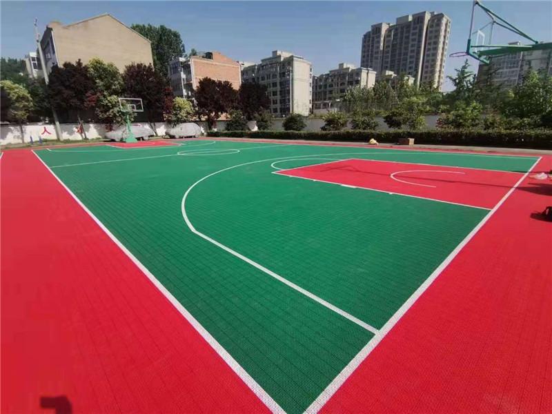 悬浮拼装地板篮球场羽毛球场案例