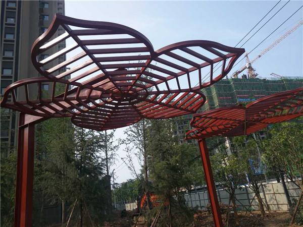 长安区樱花大道花瓣钢结构造型