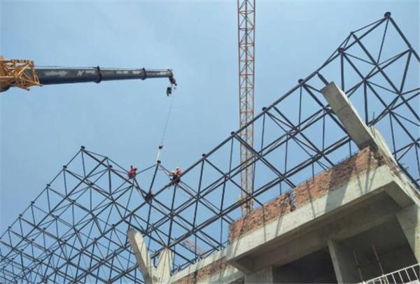 莱钢建设分享-钢结构网架安装之悬吊拼装