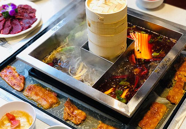 牛浪鸡特色涮烤一体锅,火锅+汤锅+烤肉吃出新高度!