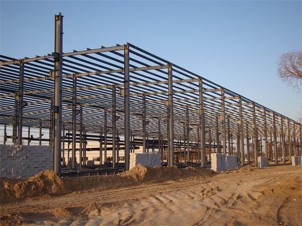 钢结构彩板厂房建设进展情况-2