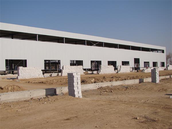 钢结构彩板厂房建设进展情况-3