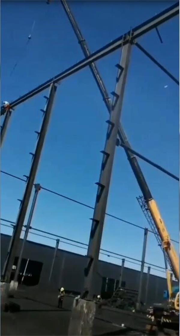 钢结构工地进展情况-2