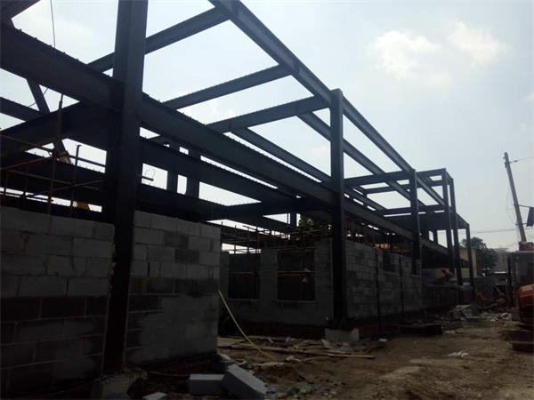 小学教学楼钢结构建筑生产安装