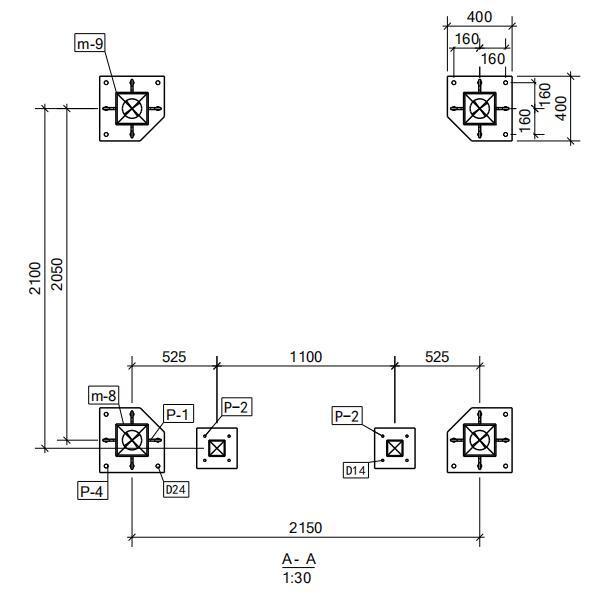 HJ-1构件零件材料图