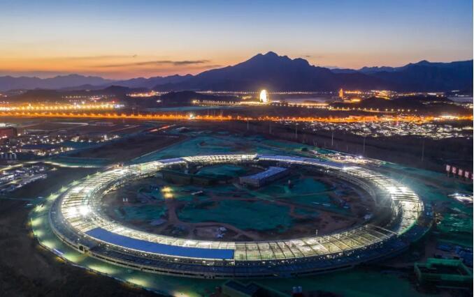 怀柔科学城北京光源完成主体钢结构施工