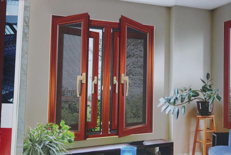 新疆鋁包木一體紗窗