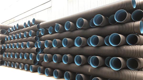 七孔管/HDPE双壁波纹管厂区一角