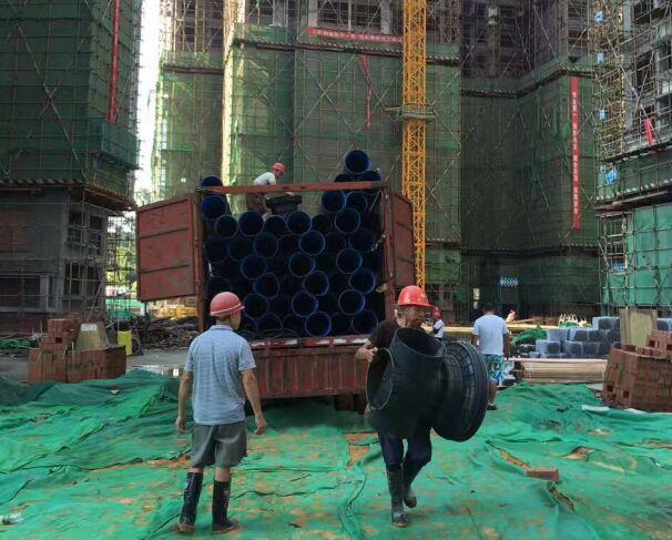 成都双壁波纹管厂家客户案例:新都工地