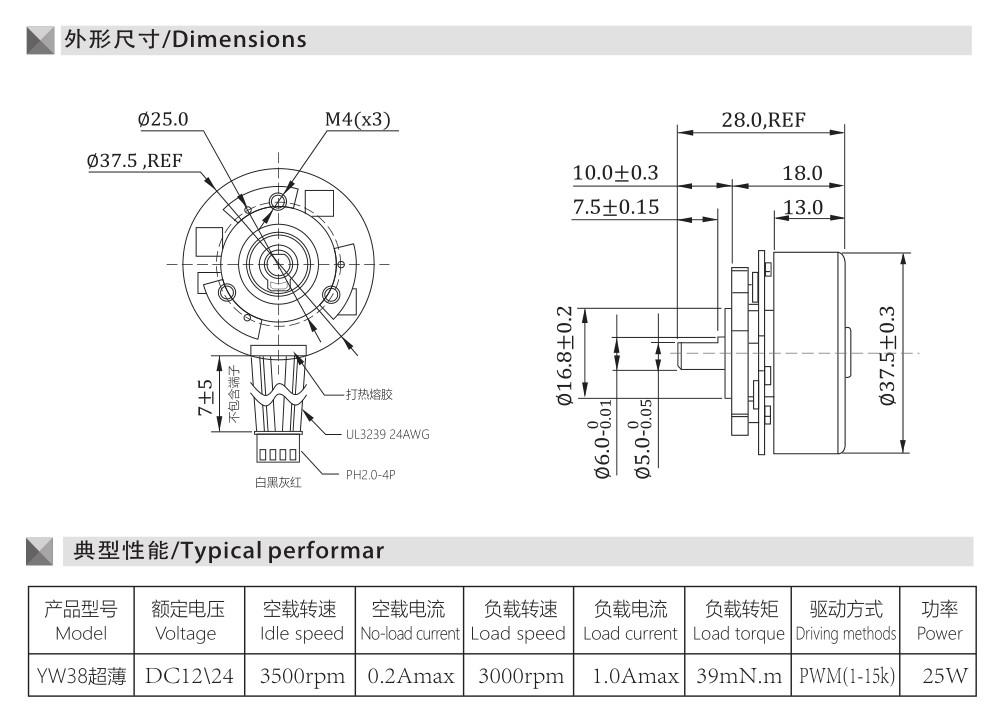 38超薄系列 筋膜槍電機