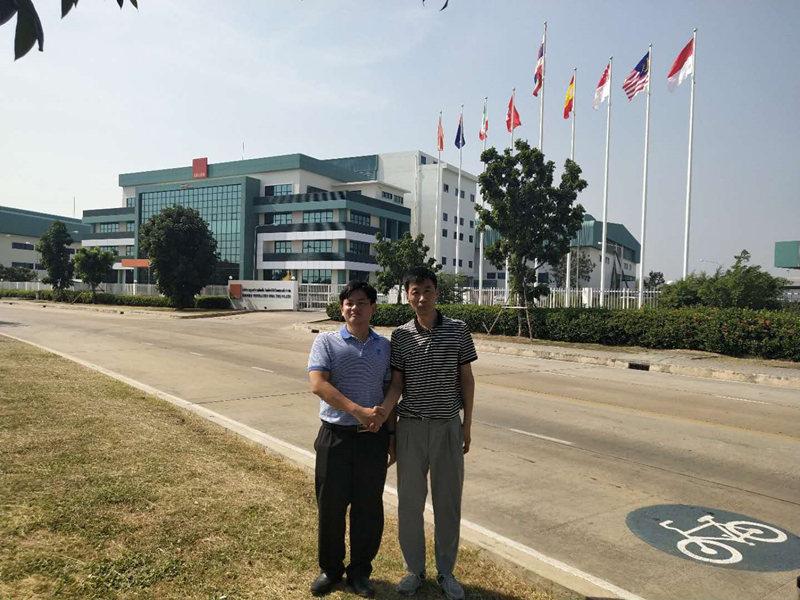与泰国科禄格通风设备有限公司合作