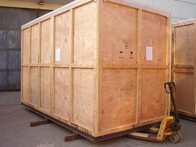 民航快递木包装箱案例