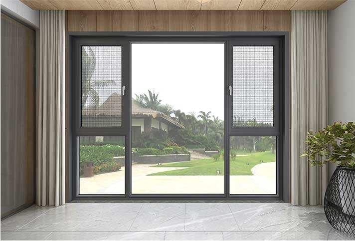 南阳铝木门窗 钢纱一体窗