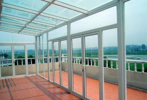 成都玻璃门窗-玻璃顶阳光房