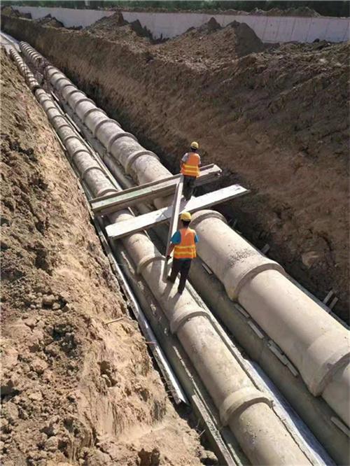 成都水泥管安装现场