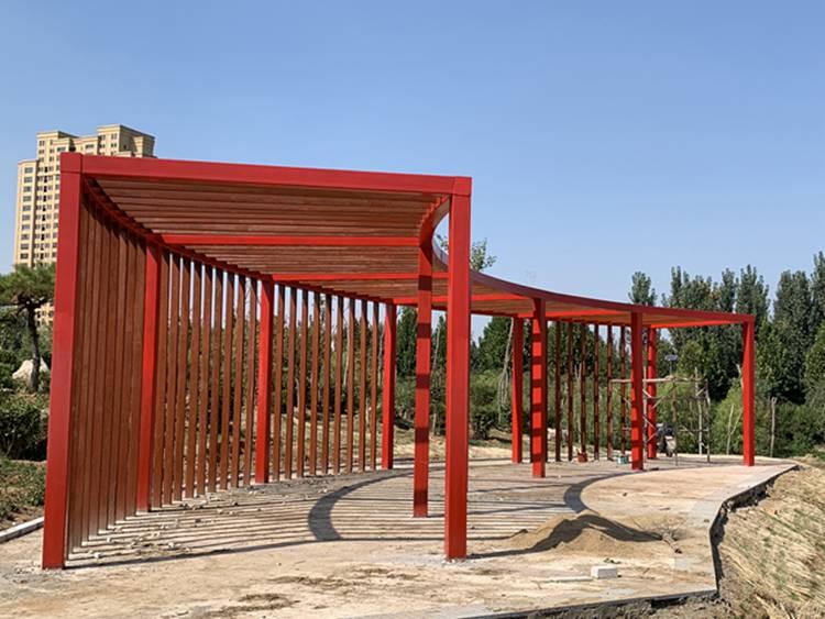 承接古建长廊施工设计 仿古廊架 中式仿古长廊花架