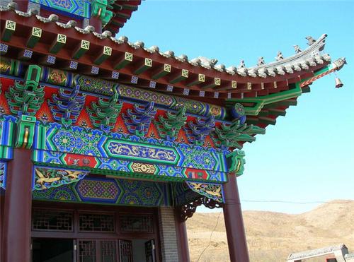 甘肃古建筑油漆彩绘工艺
