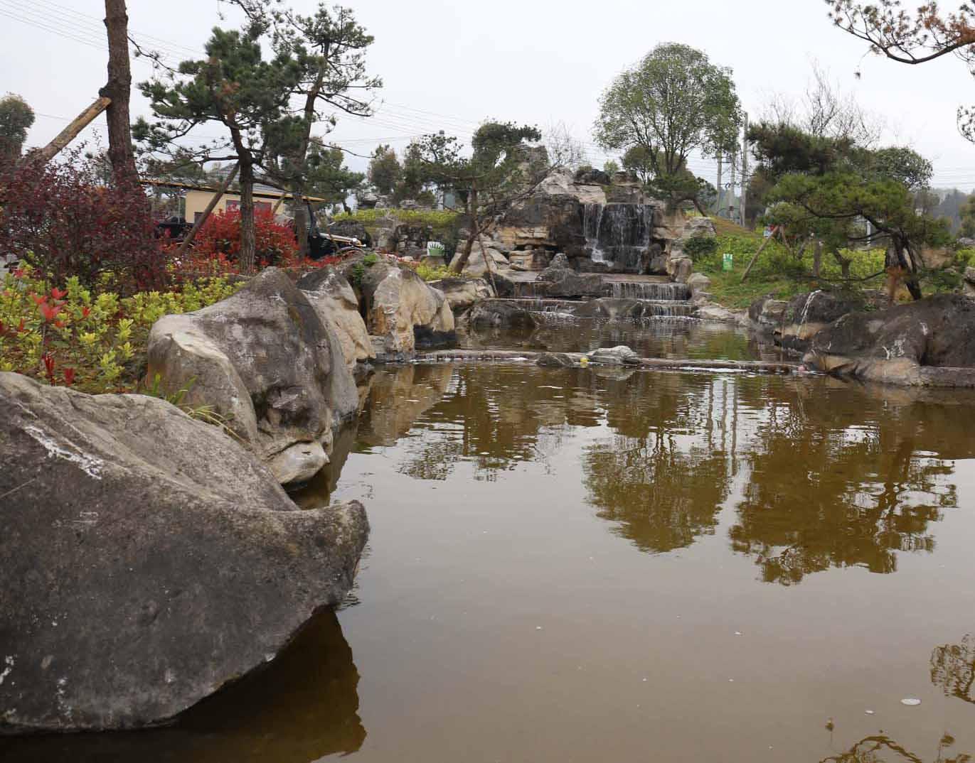 成都园林景观-生态园假山
