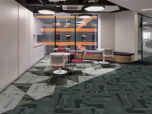 成都方塊地毯安裝成功案例:中沃飲品有限公司
