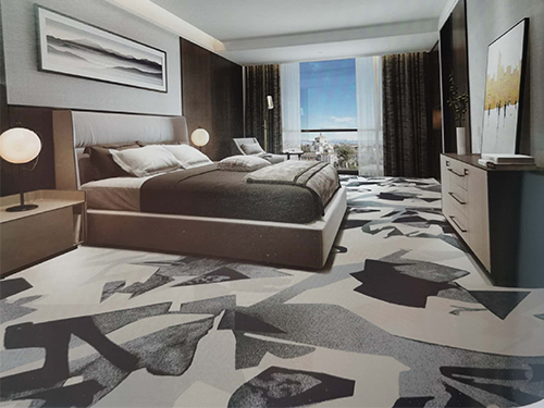 成都印花地毯批发安装成功案例