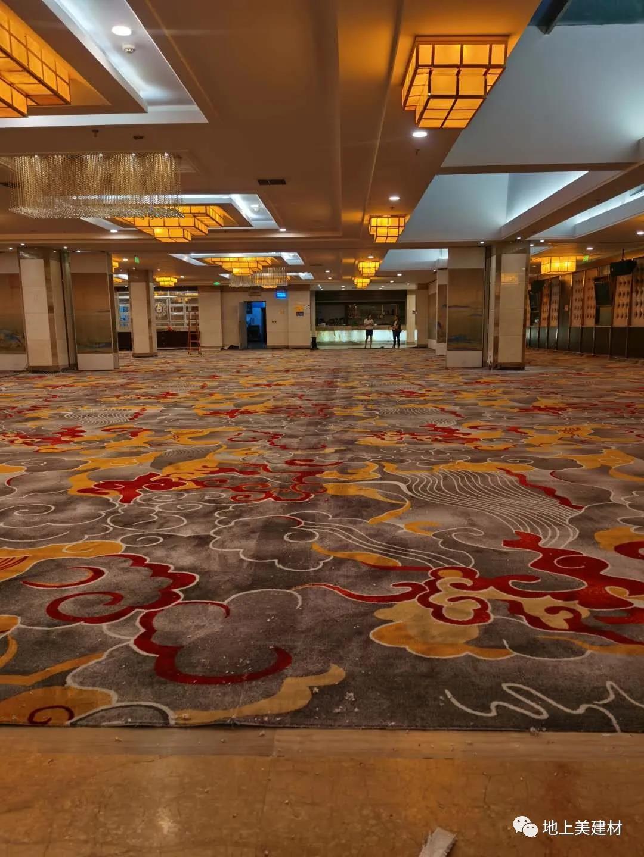 四川酒店印花地毯施工案例——泸州金格尔大酒店宴会厅