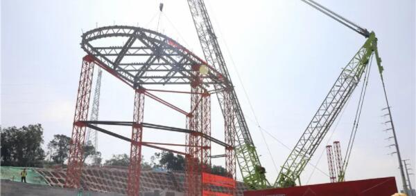 已完成钢结构首吊!南海区体育中心新进展来了!