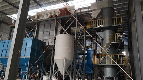 珍珠巖設備-河北卉原建材三條珍珠巖膨脹生產線安裝現場