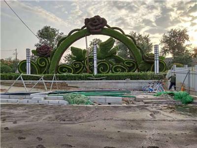 河南五色草坪造型安装