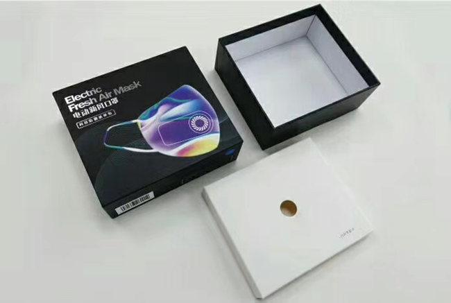 电动新风口罩盒印刷