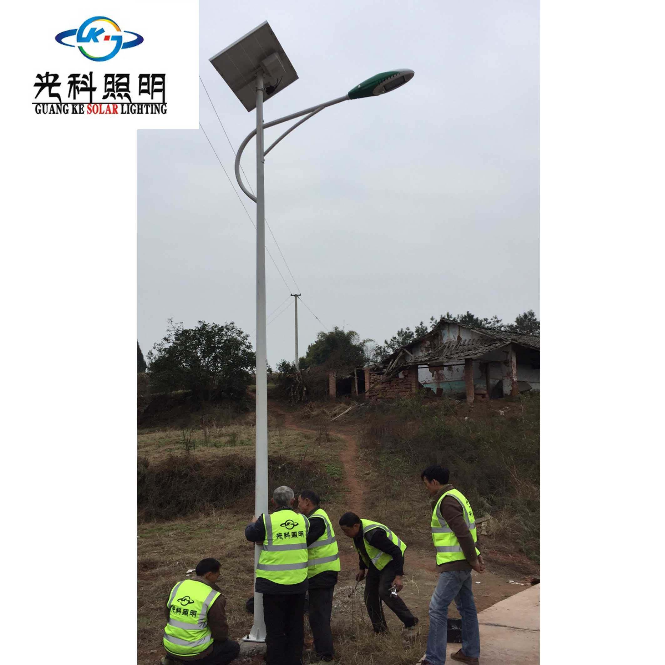 太阳能路灯施工案例