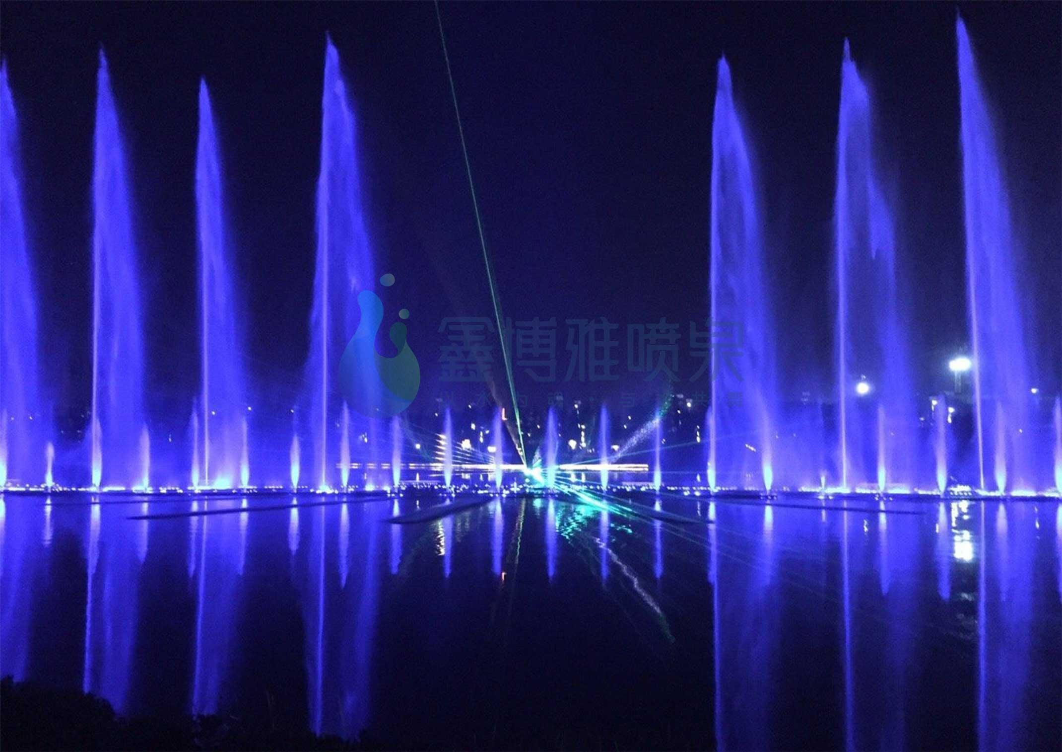 河南郑州轩辕湖激光水幕电影音乐喷泉项目