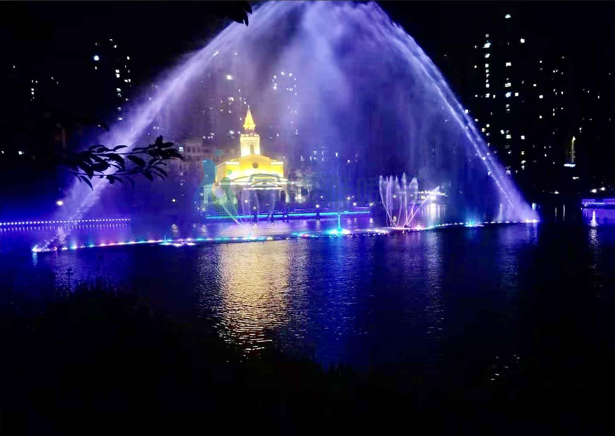重庆潼南新鸥鹏教育城激光水幕电影音乐喷泉项目