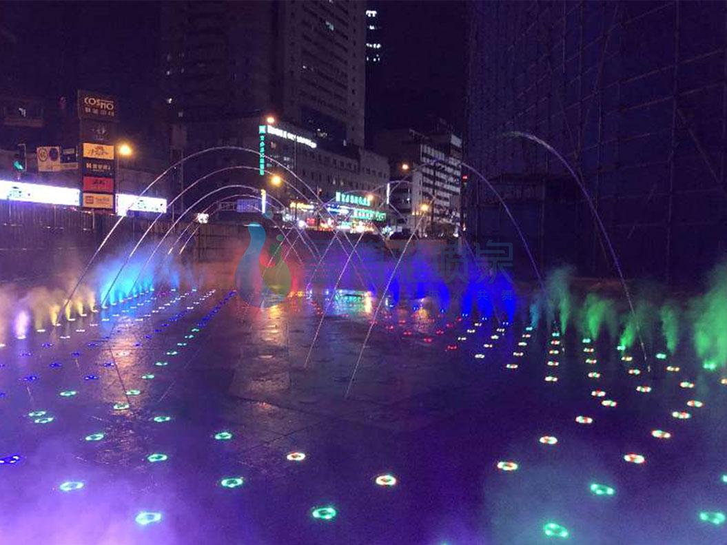 财富中心音乐喷泉