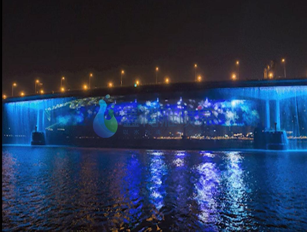 桥体水幕——美轮美奂的实景光影秀
