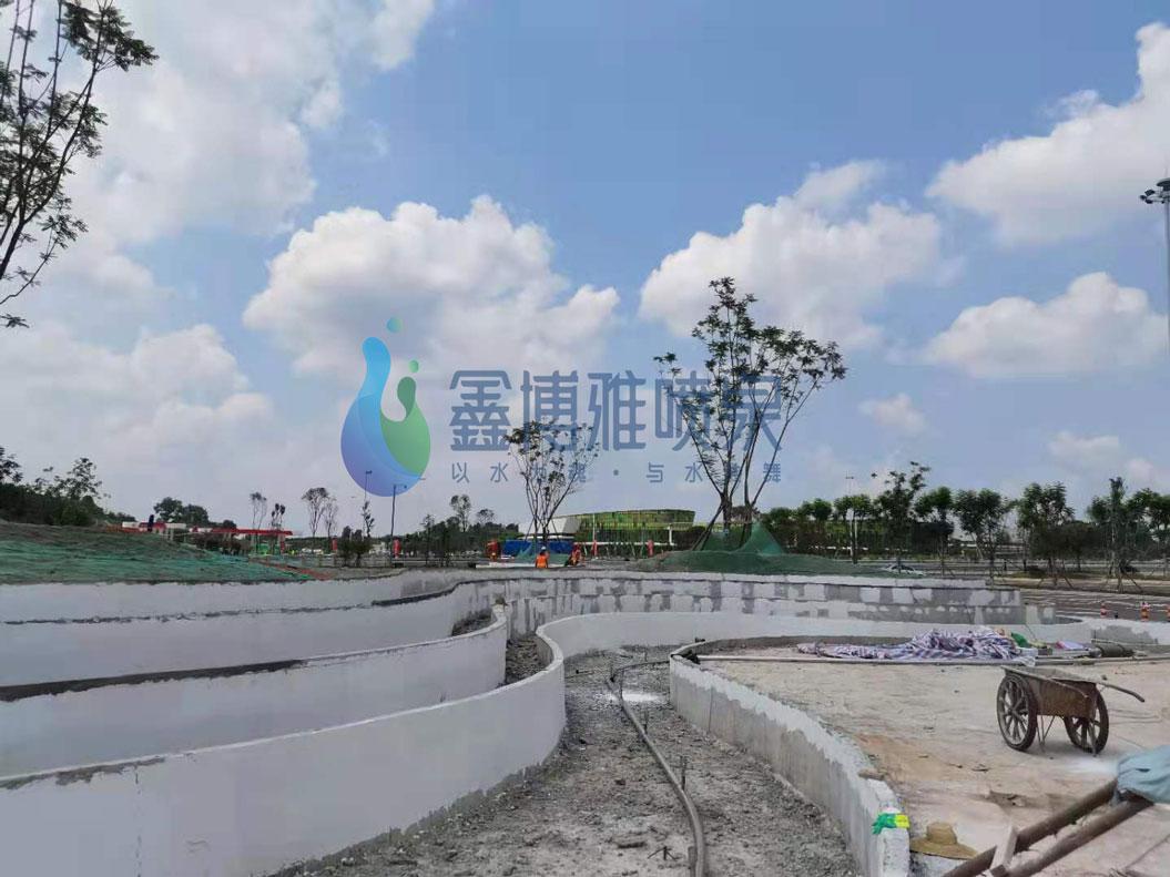 简阳天府服务区喷泉工程