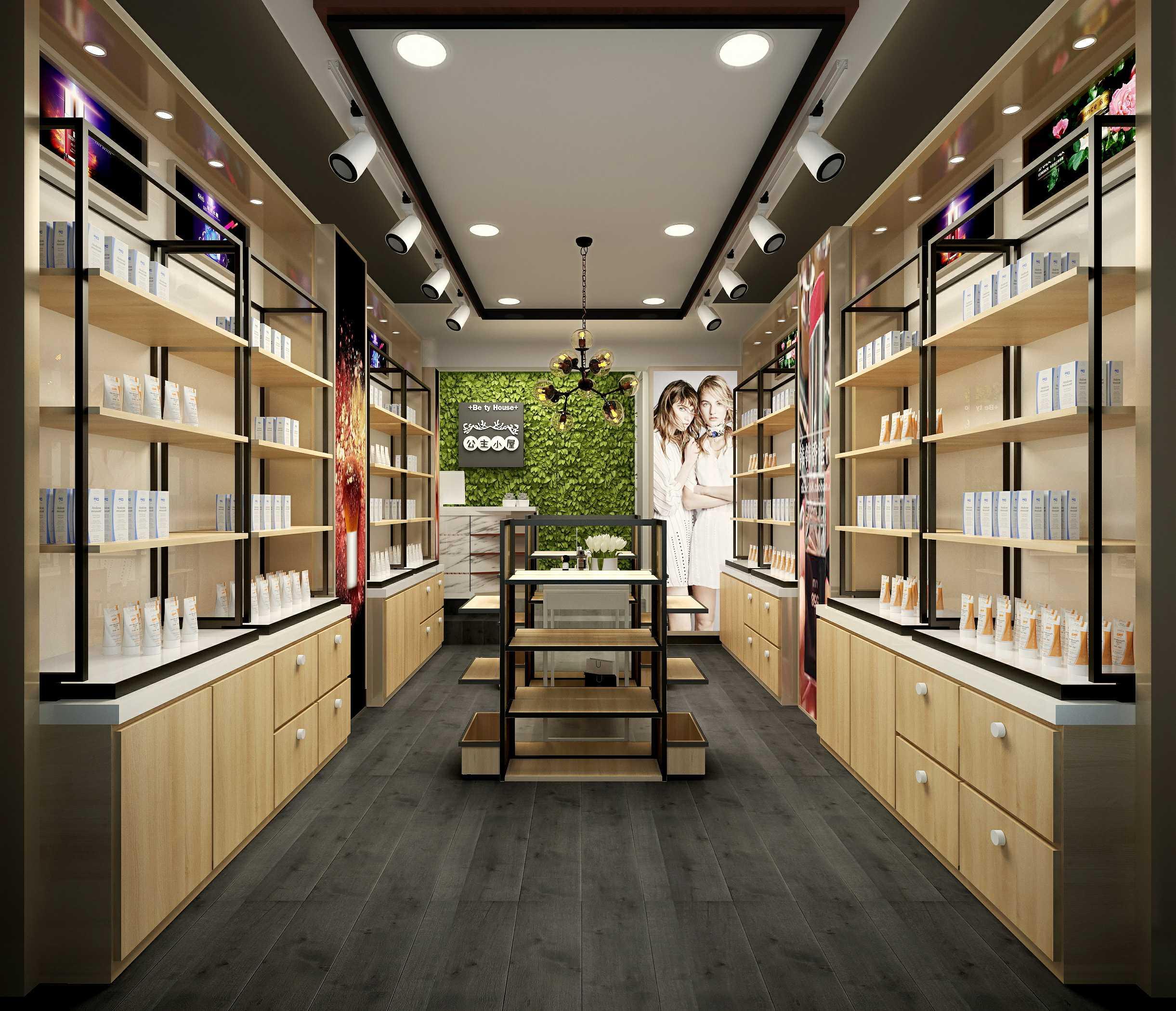 木质化妆品展柜