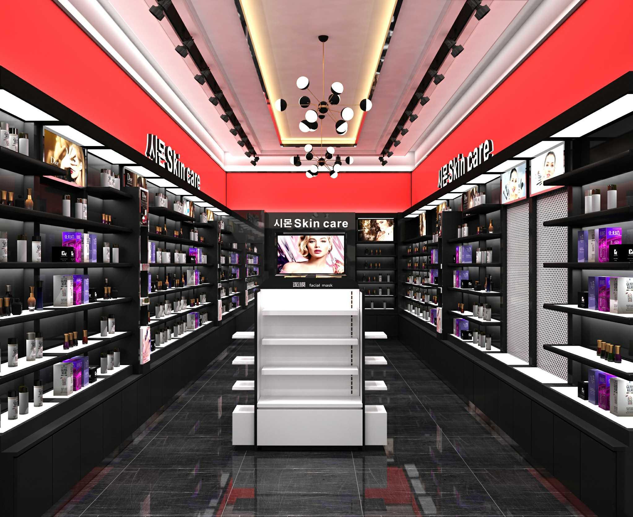 化妆品展柜使用时需要注意哪些事项?以下6个方面分享给大家!